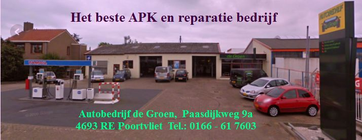 Autobedrijf de Groen, Paasdijkweg 9a,4693 RE Poortvliet. Tel.: 0166 - 61 7603
