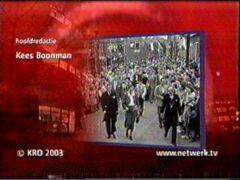 aftiteling netwerk met stukje van Polygoonfilm van 20 juni 1950 met bezoek Anna Eleanor aan Oud-Vossemeer