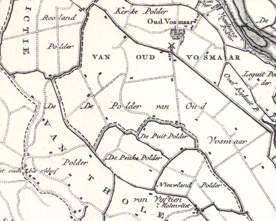 Het gebied van  Oud-Vossemeer en de plaats van het Rosevelt.