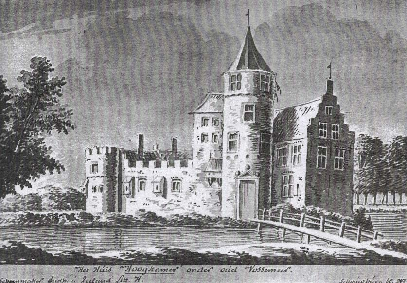 House Hoogkamer, (property of Francois Vrijberghe) Langeweg, Oud-Vossemeer in 18th century, not excisting today