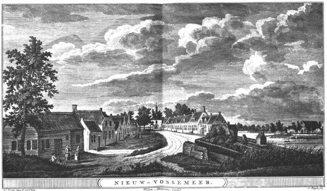 gezicht op  Nieuw Vossemeer, anno 1784
