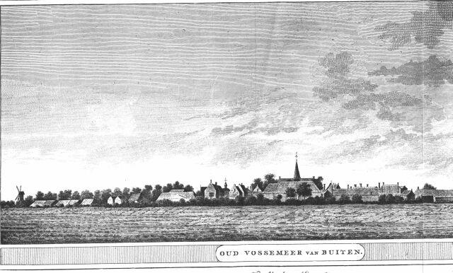 Gezicht op Oud  Vossemeer vanuit Gankelweg  1784