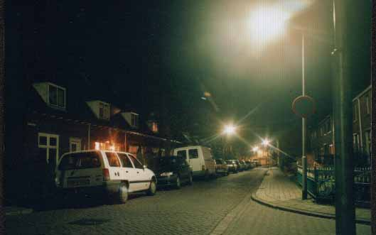 my street in 2005 by  night